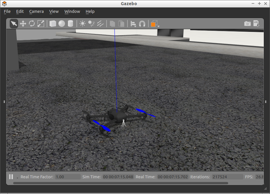 quadcopter simulation detail